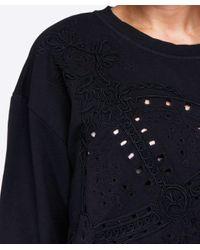 Vivienne Westwood Anglomania Black Embroidered Orb Sweatshirt