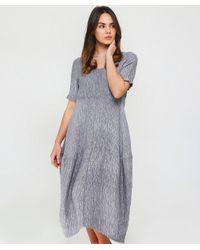 Grizas - Metallic Linen Textured T-shirt Dress - Lyst