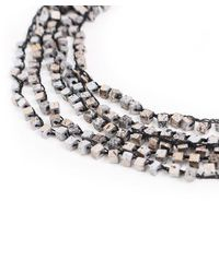 Jianhui - Metallic Crocheted Wooden Bead Necklace - Lyst