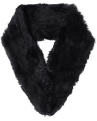 Yves Salomon - Black Fur Loop Scarf - Lyst