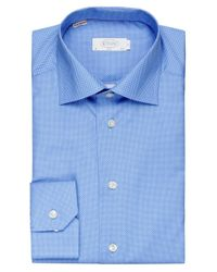 Eton of Sweden - Blue Slim Fit Dot Shirt for Men - Lyst
