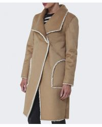 Velvet By Graham & Spencer - Natural Tangy Faux Fur Coat - Lyst
