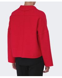 Oska - Red Lee Cropped Wool Jacket - Lyst