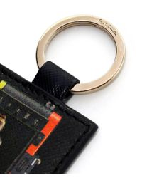 Paul Smith - Black Saffiano Leather Leica Mini Keyring - Lyst