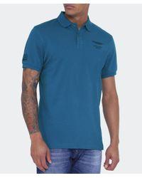 Hackett - Blue Aston Martin Racing Jacquard Polo Shirt for Men - Lyst