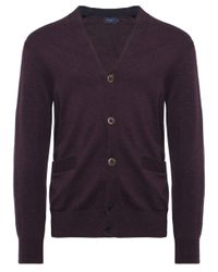 Paul Smith | Purple Contrast Trim Cardigan for Men | Lyst