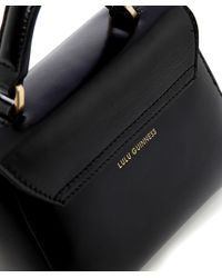 Lulu Guinness | Black Polished Leather Mini Izzy Bag | Lyst