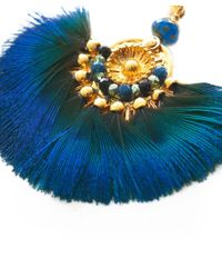 Gas Bijoux - Blue Gaia Feather Earrings - Lyst