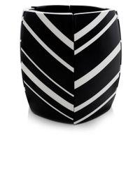 Monies | Black Striped Ebony Cuff Bracelet | Lyst