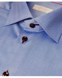 Eton of Sweden - Blue Contemporary Fit Herringbone Shirt for Men - Lyst