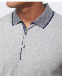 BOSS Orange - Gray Pejo Contrast Polo Shirt for Men - Lyst