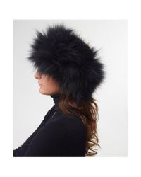 Yves Salomon - Black Racoon Fur Headband - Lyst