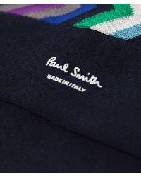 Paul Smith | Blue Fleet Chevron Socks for Men | Lyst