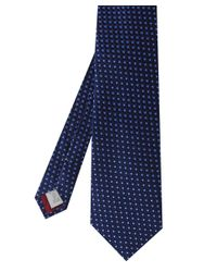 Eton of Sweden - Blue Scalloped Semi Circle Silk Tie for Men - Lyst