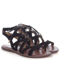 251cfe9aae5df3 Sam Edelman Gemma Suede Sandals in Black - Lyst