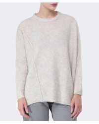 Oska - Natural Melina Boucle Wool Sweater - Lyst