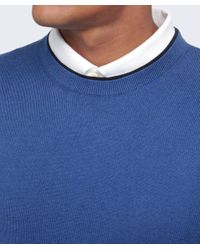 Paul Smith - Blue Crew Neck Jumper for Men - Lyst