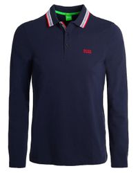 BOSS Green | Blue Modern Fit Plisy Polo Shirt for Men | Lyst