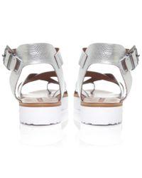 Inuovo - Metallic Multi Strap Sandals - Lyst