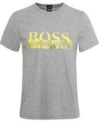 BOSS - Gray Regular Fit Tee 6 T-shirt for Men - Lyst