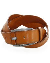 BOSS Orange | Brown Bakaba Leather Belt for Men | Lyst
