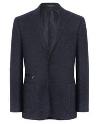 Corneliani | Blue Virgin Wool Jacket for Men | Lyst