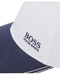BOSS Green - White Logo Cap for Men - Lyst