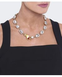 Marc Jacobs - Metallic Hand Crystal Necklace - Lyst