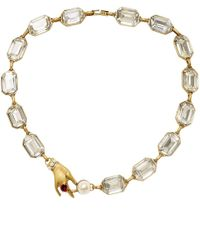 Marc Jacobs | Metallic Hand Crystal Necklace | Lyst