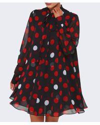 McQ Alexander McQueen - Multicolor Tie Neck Dress - Lyst