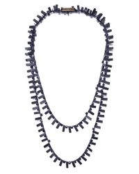 Jianhui | Black Crystal Cube Necklace | Lyst