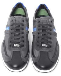 BOSS Green - Brown Stiven Trainers for Men - Lyst
