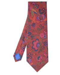 Jules B | Red Floral Silk Tie for Men | Lyst