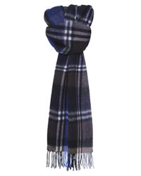 Jules B | Brown Checked Wool Scarf for Men | Lyst