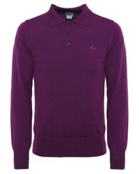 Vivienne Westwood | Purple Knitted Wool Polo Shirt for Men | Lyst