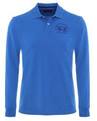 La Martina | Blue Milo Long Sleeved Polo Shirt for Men | Lyst