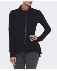 Rundholz | Black Zip Through Peplum Top | Lyst