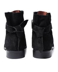 H by Hudson - Black Suede Aretha Boots - Lyst