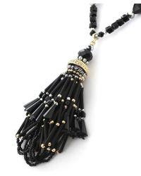 Butterfly - Black Mademoiselle Tassel Necklace - Lyst