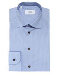 Eton of Sweden   Blue Slim Fit Striped York Shirt for Men   Lyst