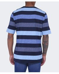Paul And Shark - Blue Striped Crew Neck T-shirt for Men - Lyst