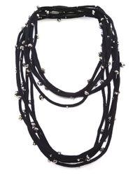 Jianhui | Metallic Crystal Five Strand Necklace | Lyst