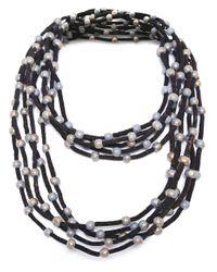 Jianhui | Metallic Wooden Bead Necklace | Lyst