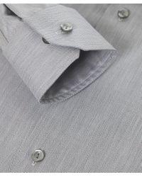 Eton of Sweden - Gray Slim Fit Herringbone Cambridge Twill Shirt for Men - Lyst