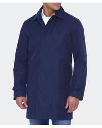 Gant | Blue Water Repellent Overcoat for Men | Lyst