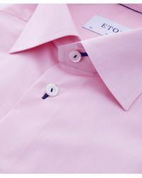 Eton of Sweden | Pink Slim Fit Fine Striped Shirt for Men | Lyst