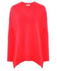 Cocoa Cashmere | Pink Cashmere V-neck Jumper | Lyst