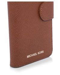 MICHAEL Michael Kors - Brown Leather Iphone 7 Folio Case for Men - Lyst