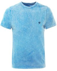 True Religion | Blue Logo Batik T-shirt for Men | Lyst