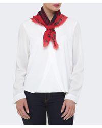 KENZO - Black Icon Wool Scarf - Lyst
